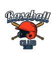 baseball badge logo emblem template team club 1980 vector image vector image