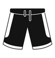 basketball shorts icon simple style vector image vector image