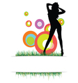 beauty girl on the grass vector image vector image