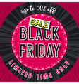 Black friday sale banner on red patterned backgrou vector image vector image