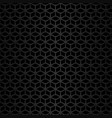 black metal background geometric pattern vector image vector image