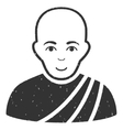 Buddhist Monk Grainy Texture Icon vector image vector image