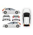 car template side front back top vector image