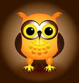 Cartoon orange owl vector image vector image
