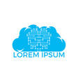 cloud networking modern technology logo design vector image vector image
