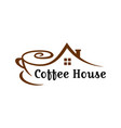 coffee shop house logo vector image