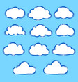 collection set variation cartoon clouds on blue vector image