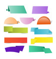 colorful origami paper vector image vector image