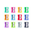 colorful plastic pencil sharpeners set vector image vector image