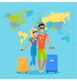Couple Summer Vacation Travel vector image vector image