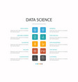 data science infographic 10 option concept vector image