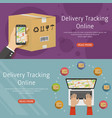 delivery online tracking two horizontal background vector image vector image