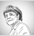 drawing of angela merkel vector image