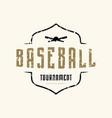 emblem baseball tournament vector image vector image