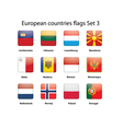 European countries flags set 3 vector image