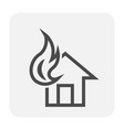 fire home icon vector image vector image