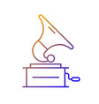 gramophone gradient linear icon vector image