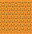 halloween pumpkin seamless pattern scary vector image vector image