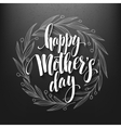 Happy mothers day calligraphy lettering greeting