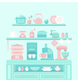 Home appliances and utensils vector image vector image