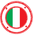 Italy stamp vector image vector image