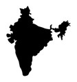map of india icon black color flat style simple vector image