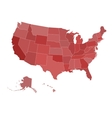 Map of United States vector image vector image