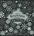 merry christmas banner on seamless snowflakes vector image vector image