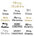 Merry Christmas Lettering Design Set vector image vector image