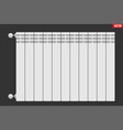 metal heating radiator vector image