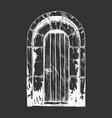 middle age vintage door vector image vector image