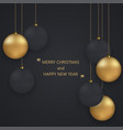 modern christmas or 2018 happy new year vector image vector image