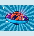 modern professional emblem basketball vector image vector image
