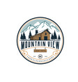 mountain view with cabin for village house rent vector image