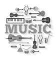 Music instruments circle infographics template vector image vector image