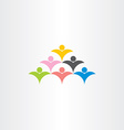 people crowd audience logo icon vector image