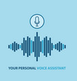 personal assistant and voice recognition concept vector image vector image
