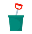pot with spade icon flat style vector image