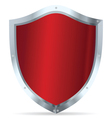 Red glossy steel shields vector image vector image