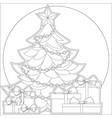 ribbon holiday set bright colorful icon vector image