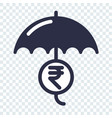 safe and secure indian rupee investment vector image vector image