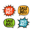sale label set business shopping mall symbol vector image vector image