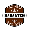 Satisfaction Guaranteed Quality label vector image vector image