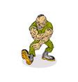 Skull Armyboy vector image vector image