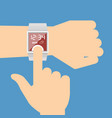smart watch navigator vector image vector image