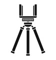smartphone tripod icon simple style vector image vector image