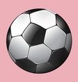 Soccer ball on pink vector image vector image