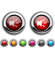 Sound button vector image