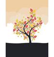 Stylized Autumn Tree vector image vector image