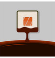 sushi square roll logotype vector image